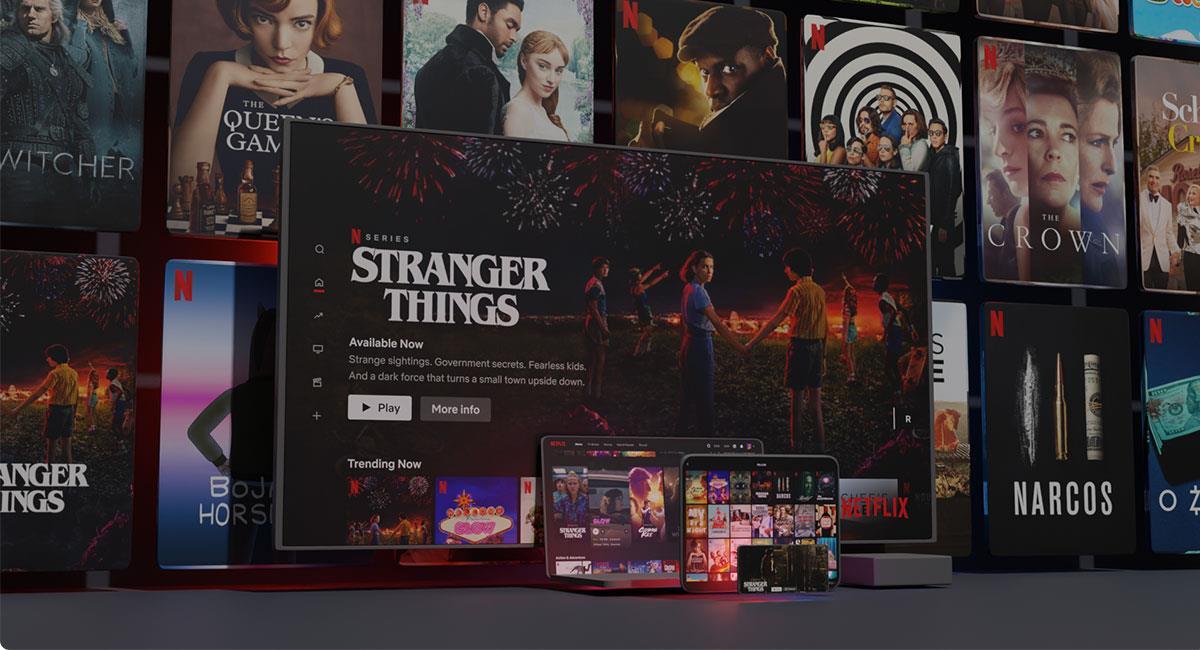"Netflix mostrará varios vistazos a series como ""Stranger Things"". Foto: Twitter @netflix"