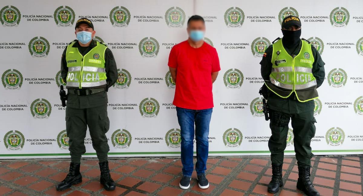 Policía captura a Néstor Tarazona Enciso, miembro del cartel de Sinaloa . Foto: Twitter @DIJINPolicia
