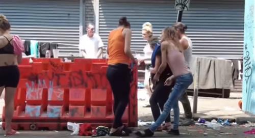 Un video tomado en Philadelphia, Estados Unidos, muestra la devastadora realidad de las drogas