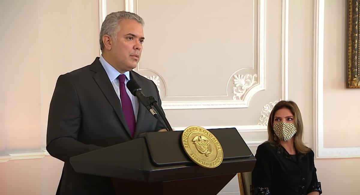 Duque dice que el país apoya la Ley de Inversión Social. Foto: Youtube Presidencia de Colombia