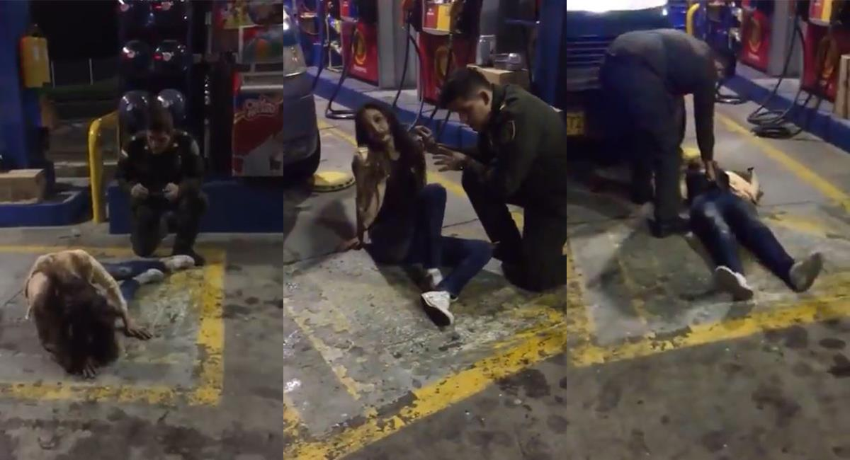 """""""Vamos a hablar en nombre de Dios"""": policía hizo un """"exorcismo"""" en Popayán. Foto: Twitter @carlosaceron"""
