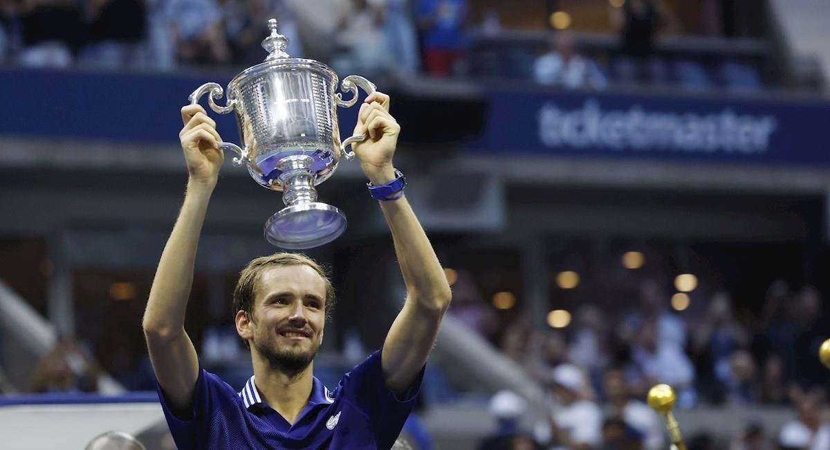 Daniil Medvédev es el nuevo campeón del US Open. Foto: EFE