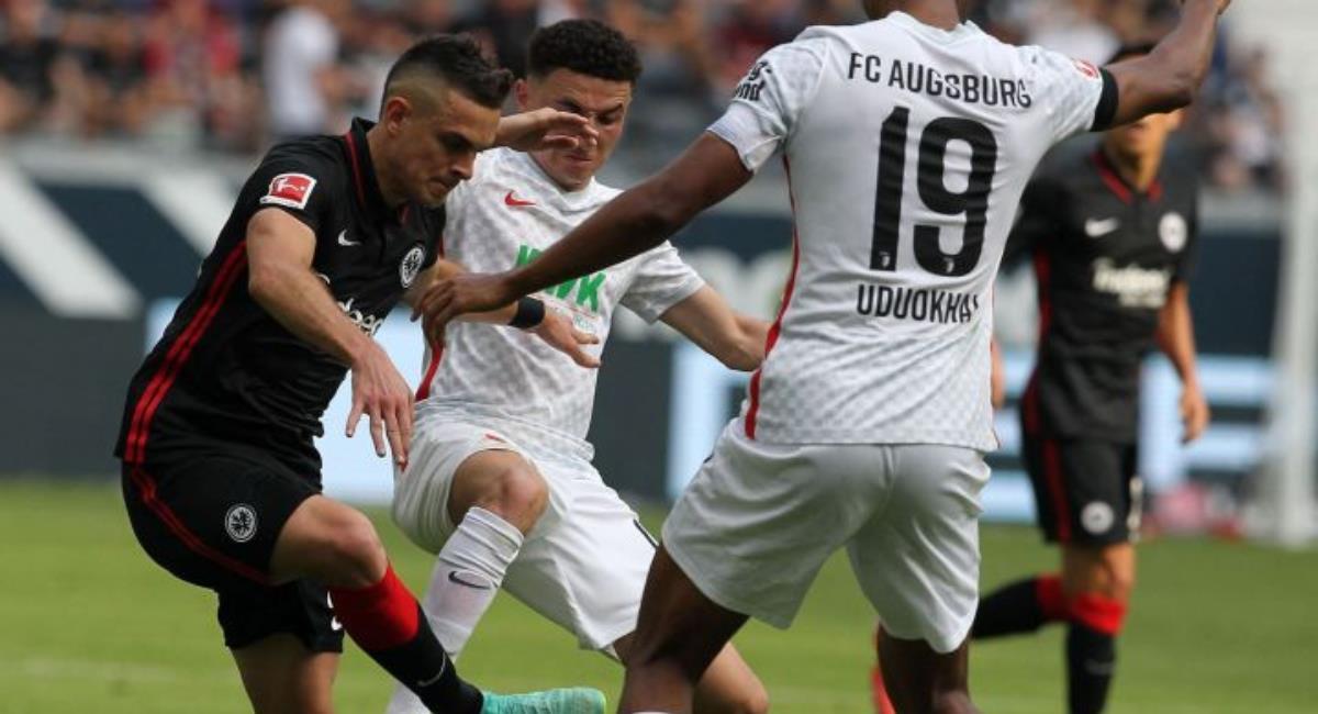 Borre a centímetros de darle el triunfo al Eintracht Frankfurt. Foto: AFP