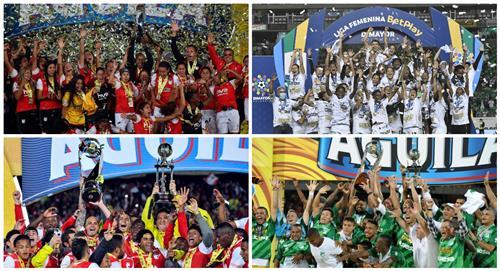Santa Fe y Cali, los únicos en ganar todos los títulos en Colombia