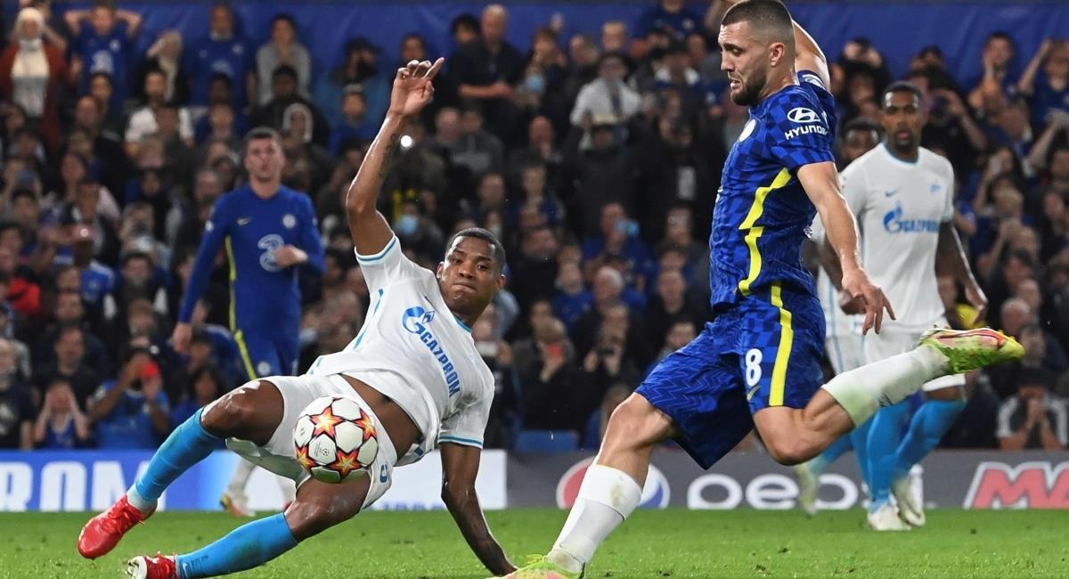 Barrios figura con Zenit ante el Chelsea. Foto: EFE