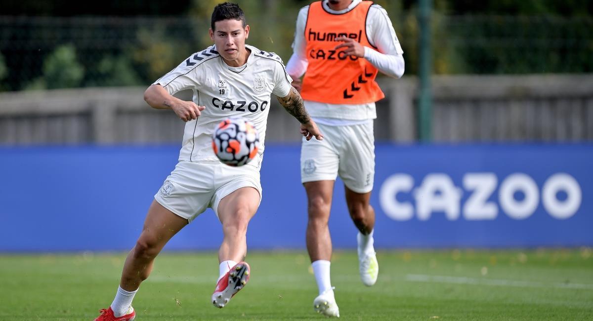 Asprilla contó por qué nadie quiso a James. Foto: Twitter Prensa redes Everton.