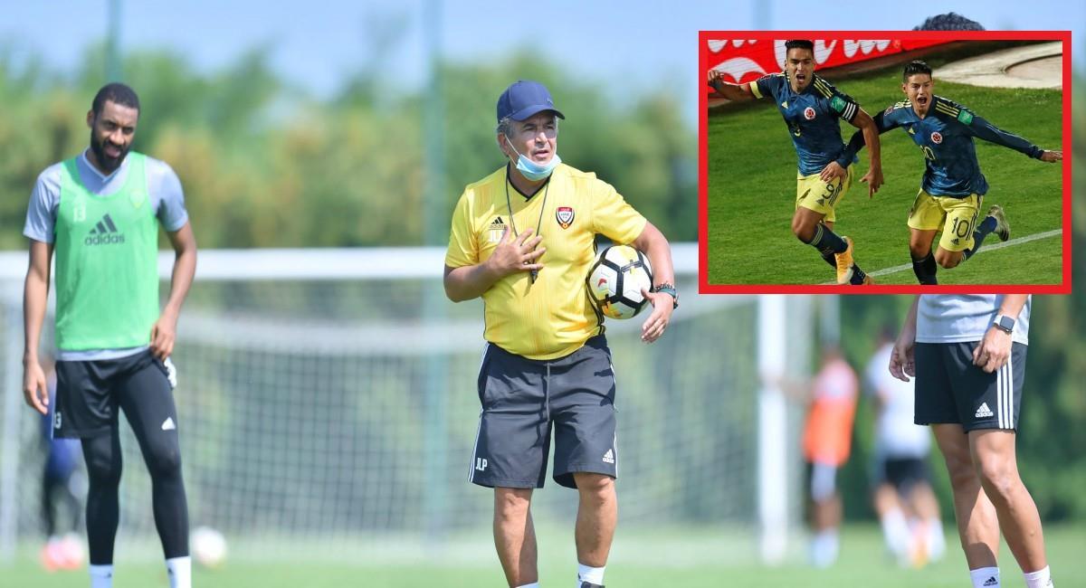 Pinto comparó a James y Falcao. Foto: Twitter Prensa redes Jorge Luis Pinto.