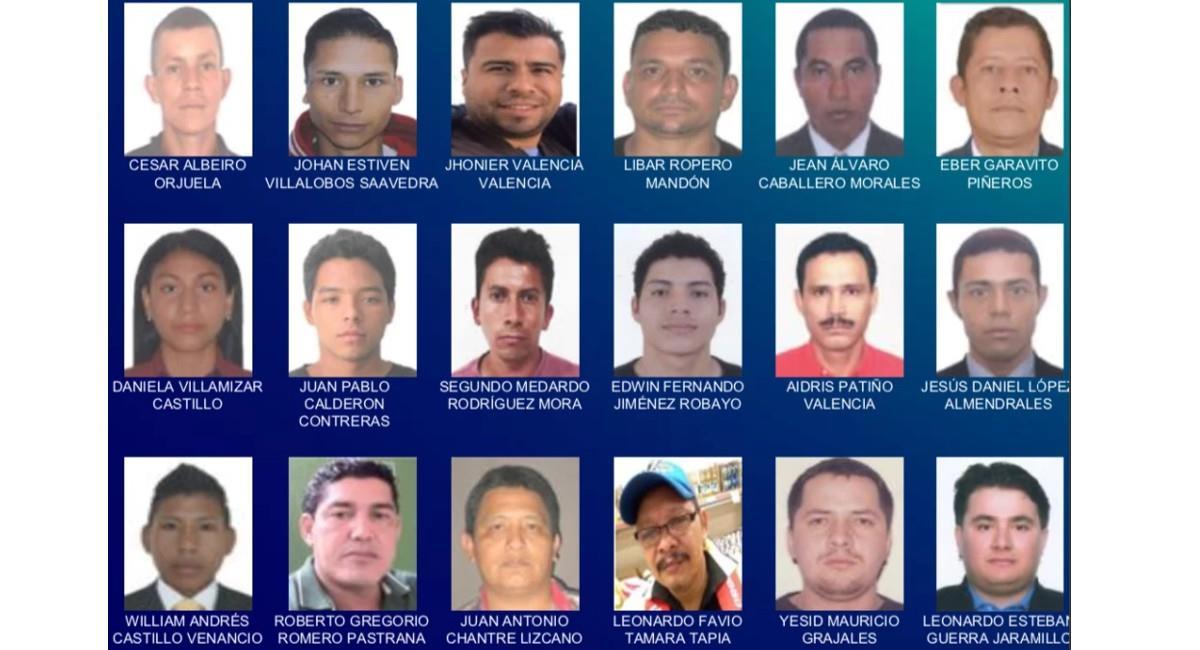 Presuntos implicados en casos de abuso a menores de edad. Foto: Policía Nacional.