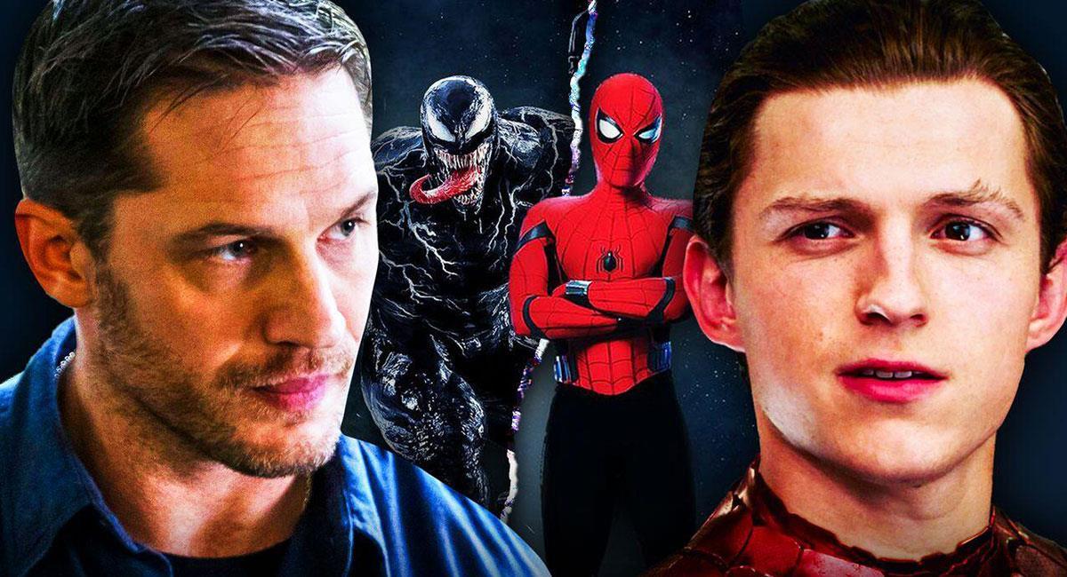 El Venom de Tom Hardy y el Spider-Man de Tom Holland se cruzarán en un futuro. Foto: Twitter @MCU_Direct