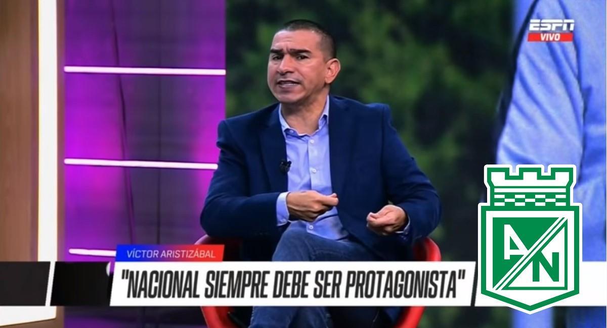 Aristizábal dijo que Nacional debe ser campeón. Foto: Youtube captura pantalla ESPN.