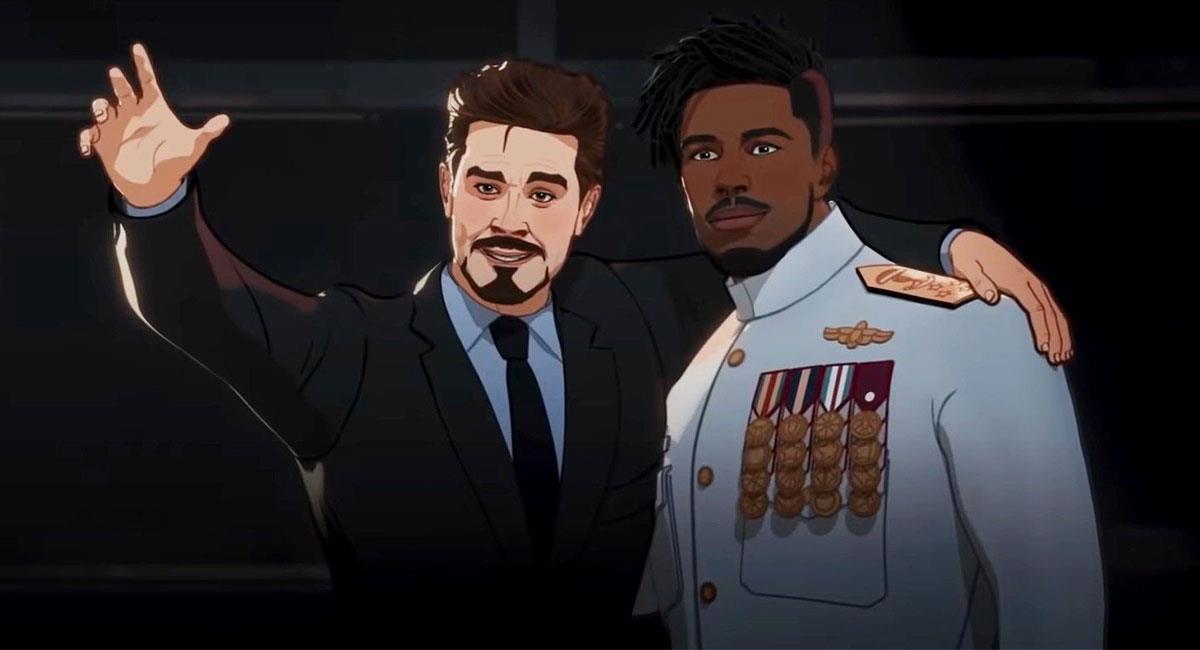 """What If?"" mostró una nueva versión de Tony Stark y Killmonger. Foto: Twitter @whatifofficial"