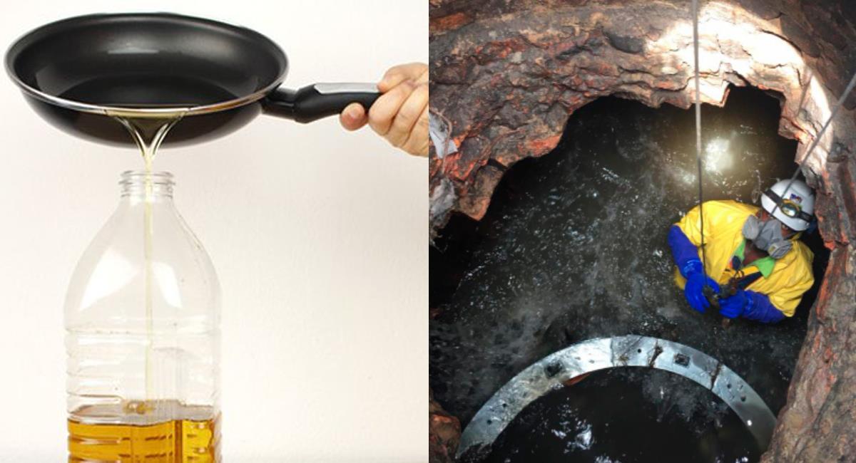 El aceite usado de los hogares es un problema grave en los alcantarillados de las ciudades colombianas. Foto: Twitter @Bogota / @Alcaldiapereira
