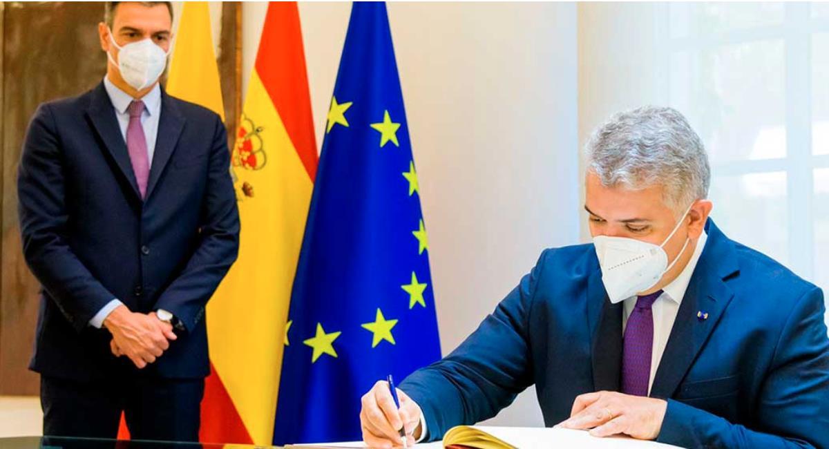 Duque durante su visita a España. Foto: Presidencia de Colombia