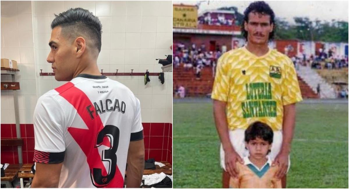 Falcao usará el 3 con el Rayo Vallecano en honor a su padre. Foto: Rayo Vallecano / Archivo