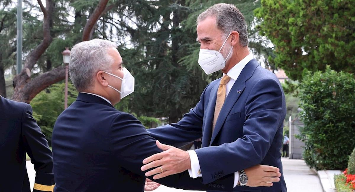 Rey Felipe recibió a Iván Duque en el Palacio de la Zarzuela. Foto: EFE