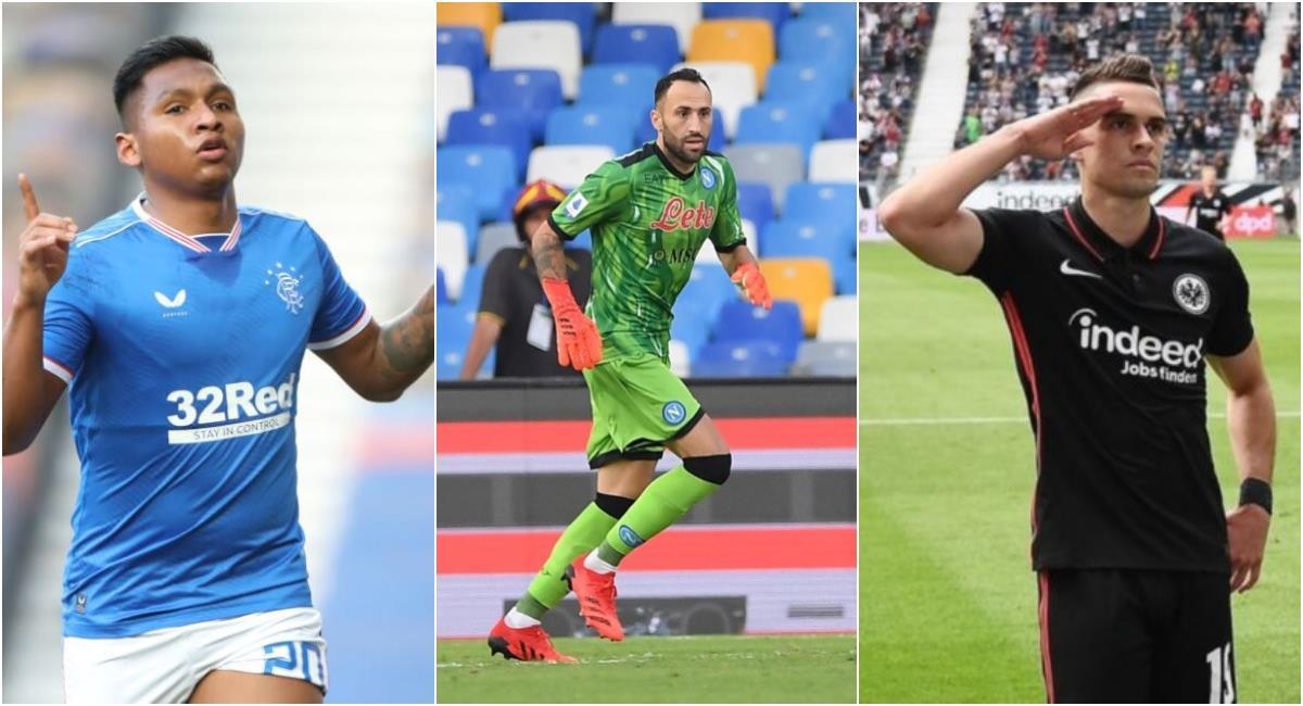 Los 6 colombianos que inician su camino en la Europa League. Foto: Getty Images / Napoli / Eintracht Frankfurt