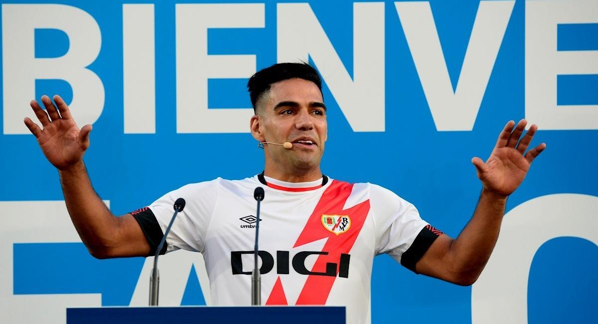 Falcao y sus palabras en su presentación con el Rayo. Foto: EFE