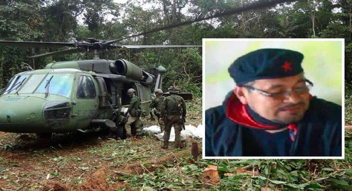 """En el Chocó al parecer fue abatido alias """"Fabián"""", cabecilla del frente de guerra occidental del ELN. Foto: Twitter @cecollm"""