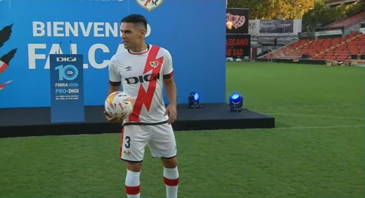 Hora y cómo ver el debut de Falcao con el Rayo Vallecano. Foto: Youtube Prensa redes Rayo Vallecano.