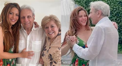 Bailando y con una emotiva reflexión, Shakira celebró los 90 años de su papá