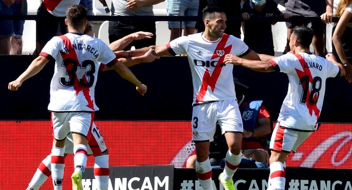 Falcao García debutó y marcó gol en victoria del Rayo. Foto: EFE