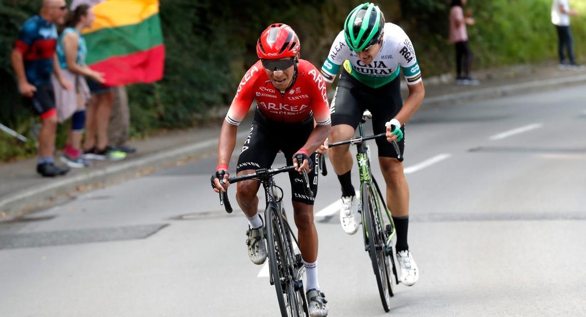 Nairo terminó 11 en el Tour de Luxemburgo. Foto: Twitter Prensa redes Team Arkea.