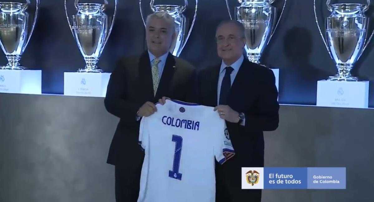 Presidente Iván Duque visitó al Real Madrid y se reunió con Florentino Pérez