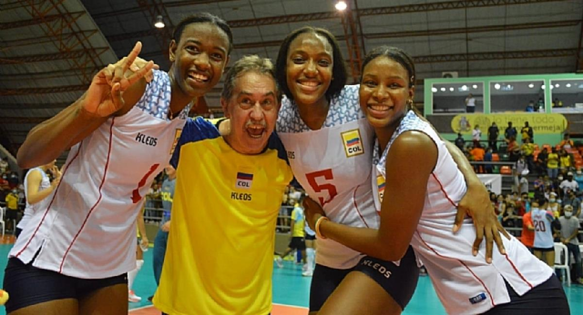 Selección Colombia femenina de voleibol a un juego del Mundial. Foto: CSV