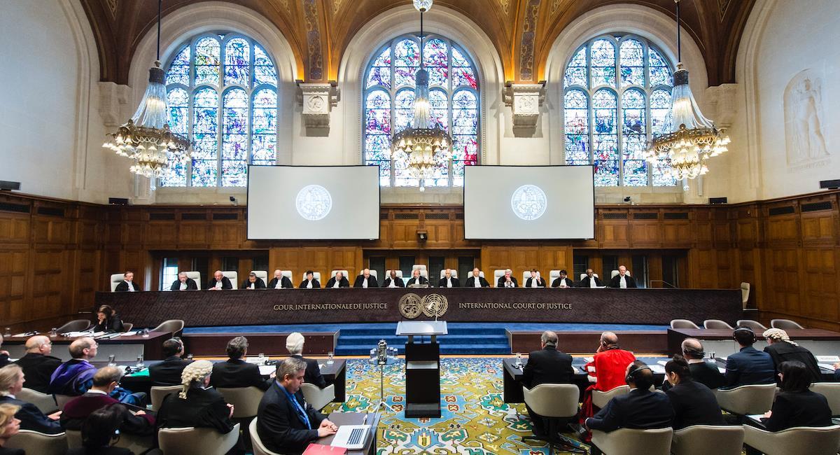 Corte Internacional de Justicia. Foto: Cancillería Colombia
