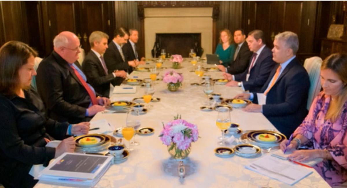 Duque en reunión con empresarios de Estados Unidos. Foto: Presidencia de Colombia