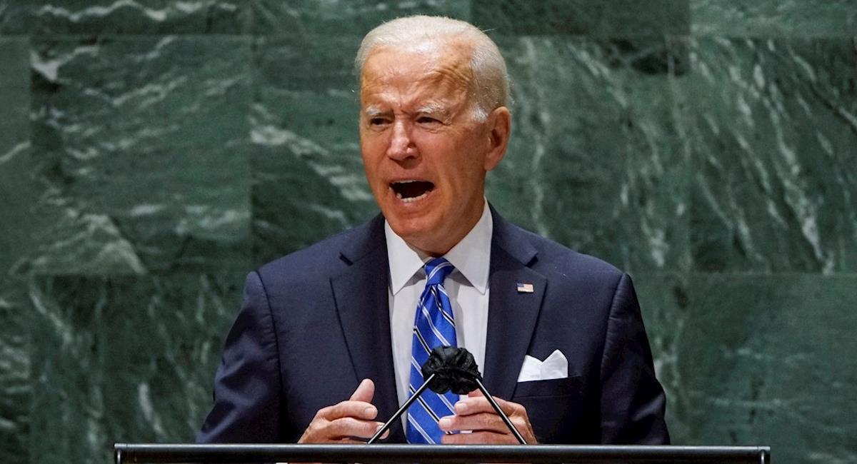 Joe Biden durante la 76º asamblea de la ONU en Nueva York. Foto: EFE