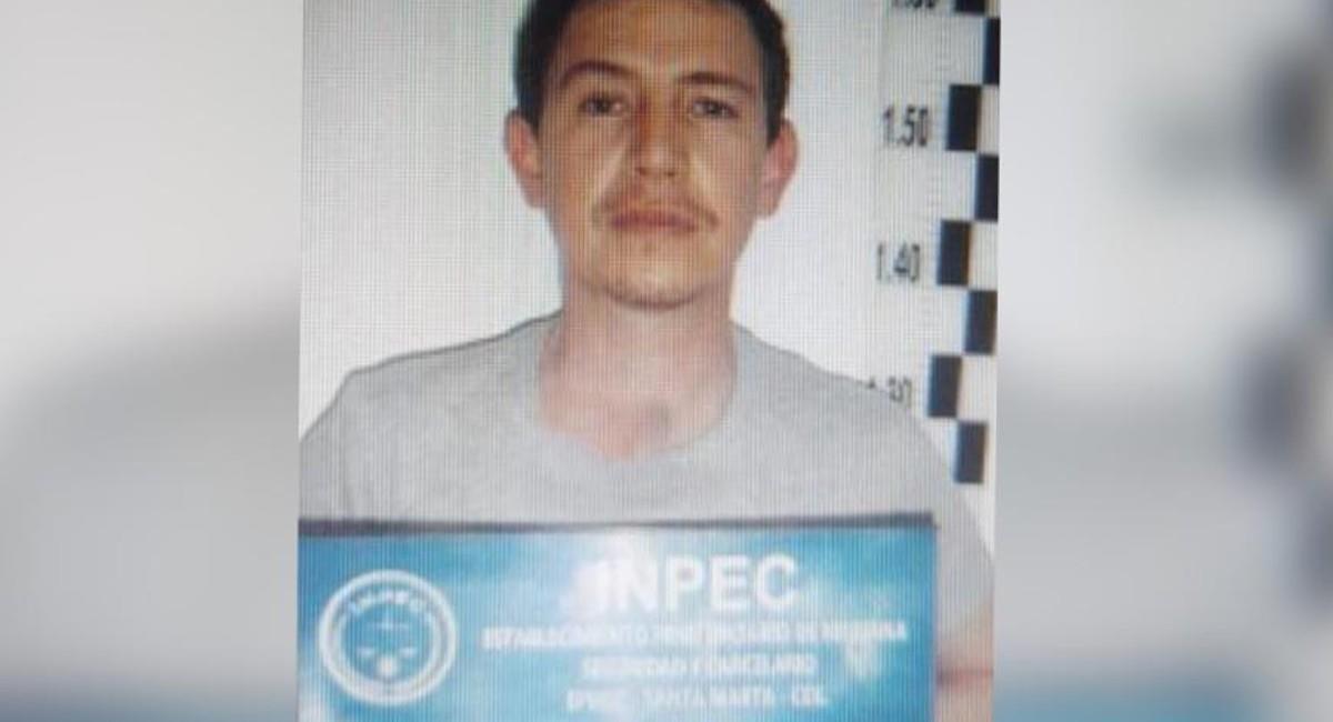 Esta sería la primera foto de Enrique Vives en la cárcel. Foto: INPEC