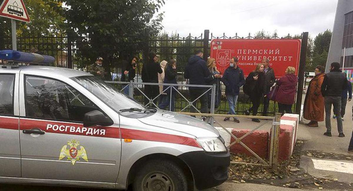 Un joven ruso de 18 años armado con un fusil acabó con la vida de 8 personas en una universidad en Perm. Foto: Twitter @_NOALCOMUNISMO