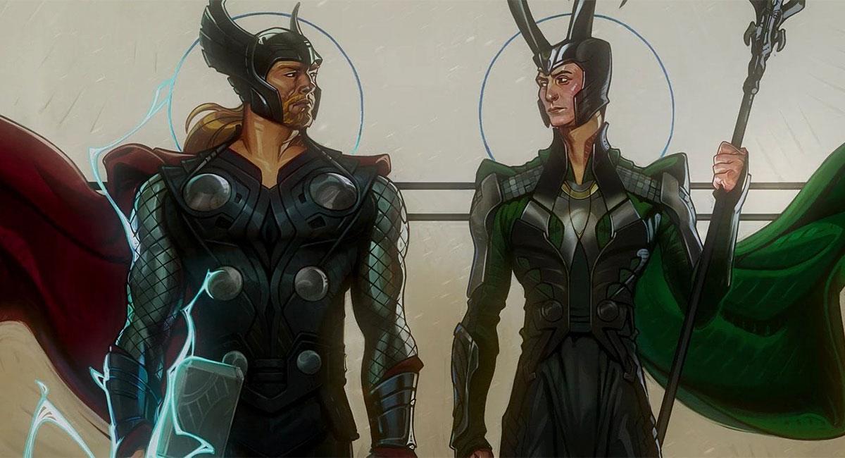 """""""What If?"""" mostró nuevas versiones de Thor y Loki. Foto: Twitter @whatifofficial"""