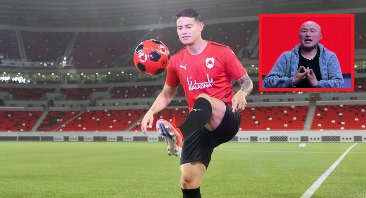 Al Rayyan confundió a James con el 'Patrón' Bermúdez. Foto: Twitter Prensa redes Al Rayyan.