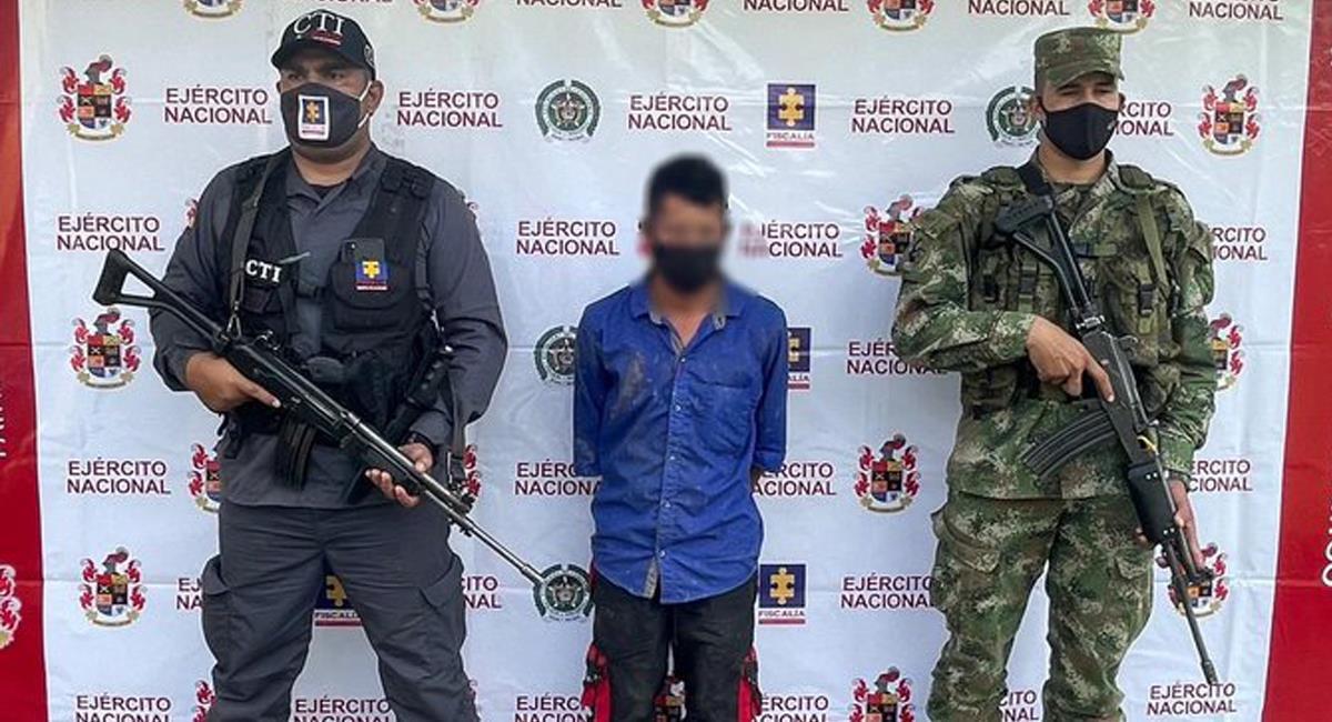 """Alias """"Cotorro"""" era, según las autoridades, el terror de los campesinos en el municipio de Ituango, Antioquia. Foto: Twitter @notired360"""