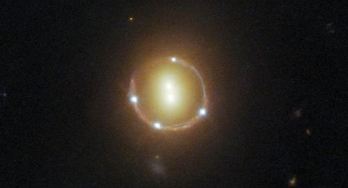 Los Anillos de Einstein habían sido visualizados por primera vez por el Telescopio Hubble. Foto: Twitter @NASA