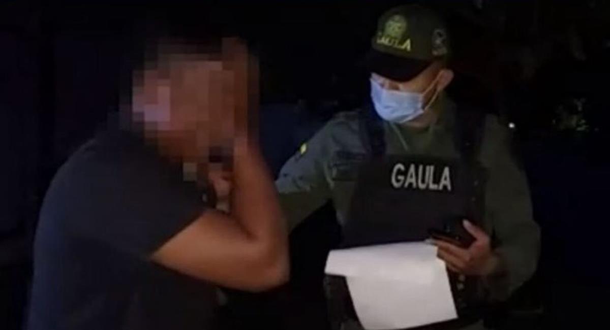 Un delincuente en Bolívar no pudo contener las lágrimas cuando la Policía llegó para capturarlo. Foto: Twitter @NoticiasCaracol