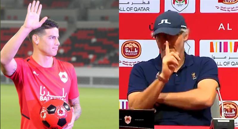 Video: El primer llamado de atención del técnico de Al Rayyan James Rodríguez