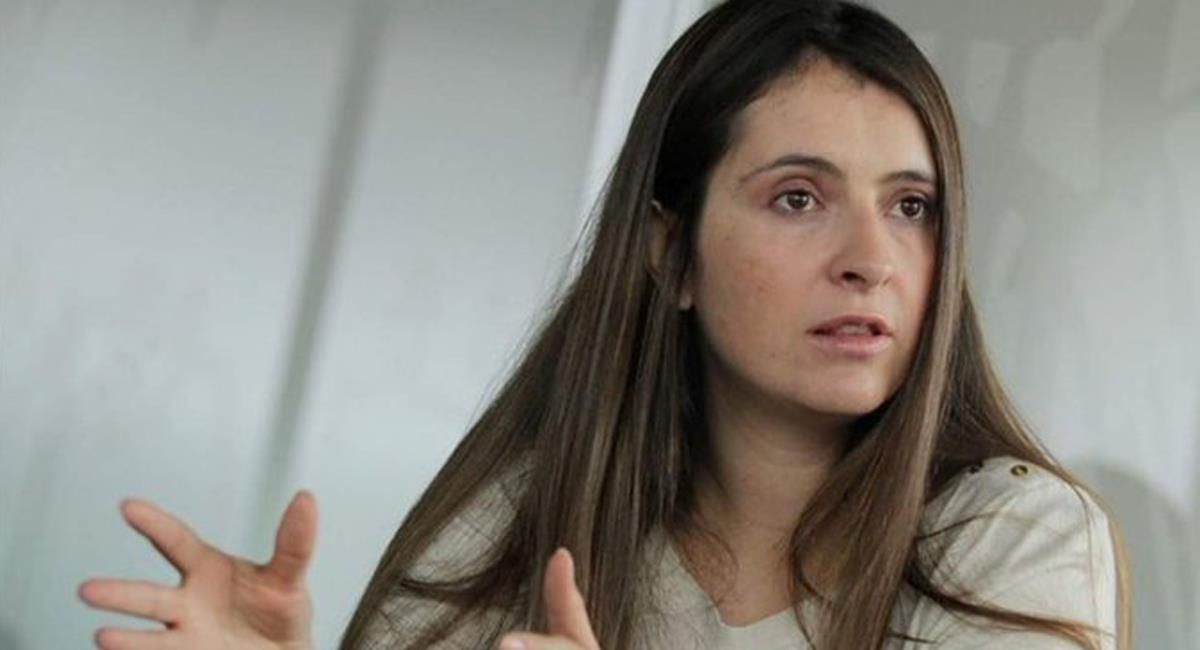 Paloma Valencia mostró su desacuerdo por apoyo de miembros del CD a candidatura de Óscar Iván Zuluaga. Foto: Twitter @elBogotano