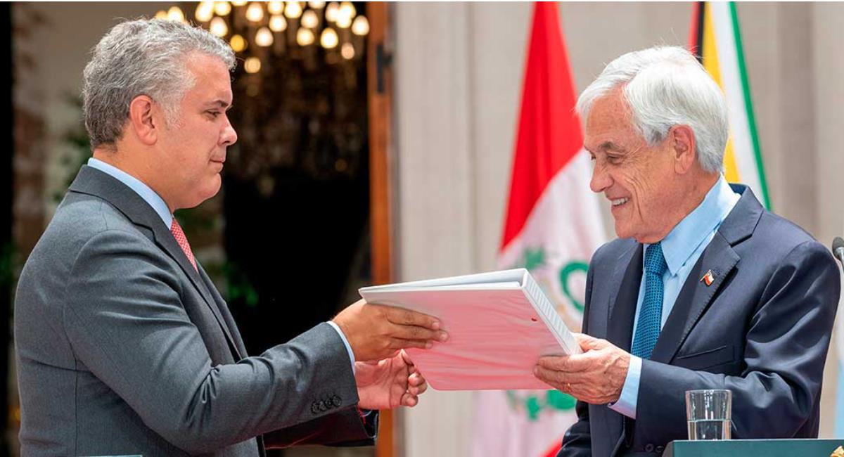 Iván Duque junto a su homologo de Chile Sebastián Piñera. Foto: Presidencia de Colombia