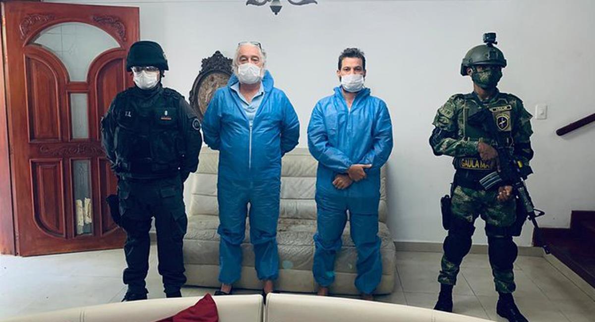 Mark Scott Grenon y Joseph Timothy Grenon, capturados en Colombia con orden de extradición de los EEUU. Foto: Twitter @RadNalCo