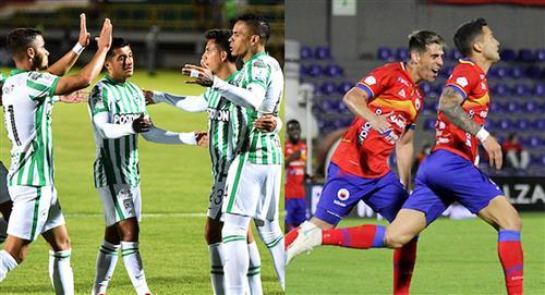 Atlético Nacional vs Deportivo Pasto Liga betplay 2021 empate en Medellin