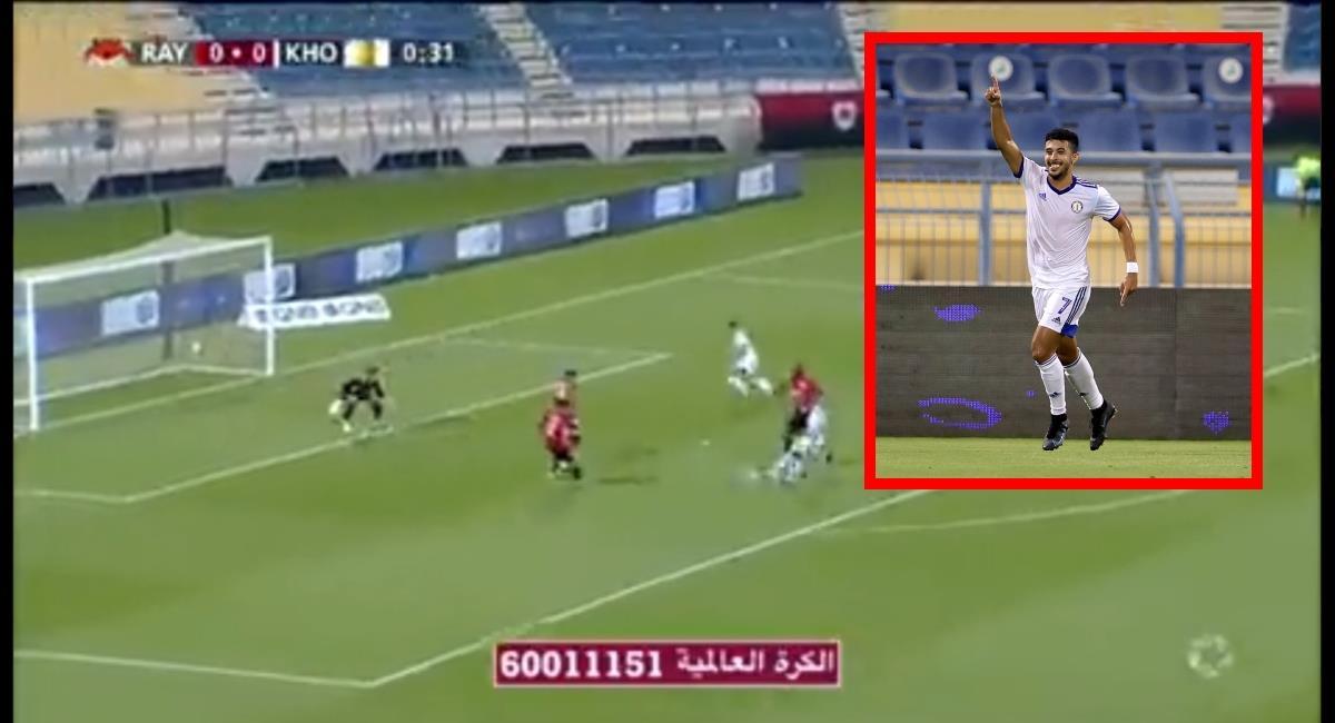 El portero del Al Rayyan protagonizó un blooper a los 34 segundos. Foto: Twitter Captura de pantalla @AlRayyanscEng