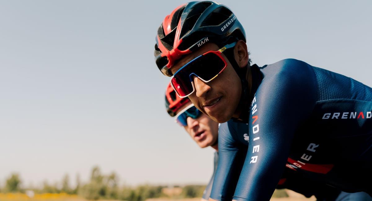 Egan Bernal el mejor ciclista latinoamericano. Foto: Twitter Prensa redes Team Ineos.