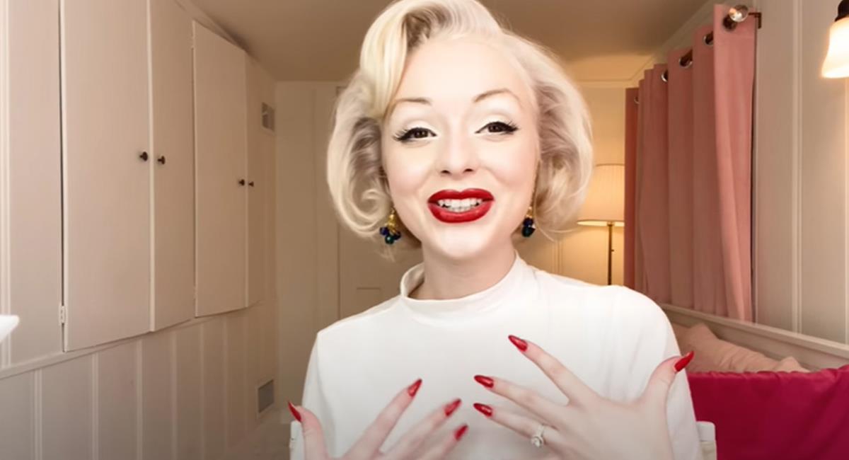 La nueva dueña de la antigua casa de Marilyn Monroe, tiene un gran parecido con la difunta actriz. Foto: TikTok