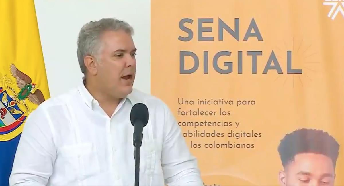 Duque anunció que el SENA dará formación a ciudadanos panameños. Foto: Twitter @IvanDuque