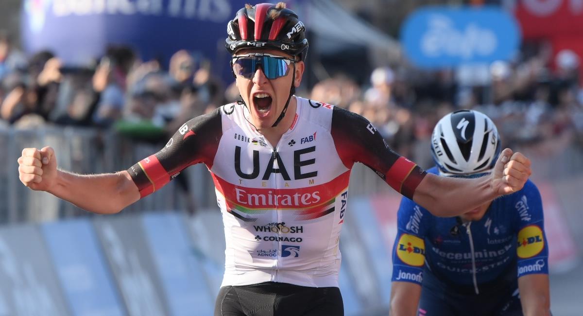 Tadej Pogacar se quedó con el Giro Il Lombardía. Foto: Twitter Prensa redes Il Lombardía.