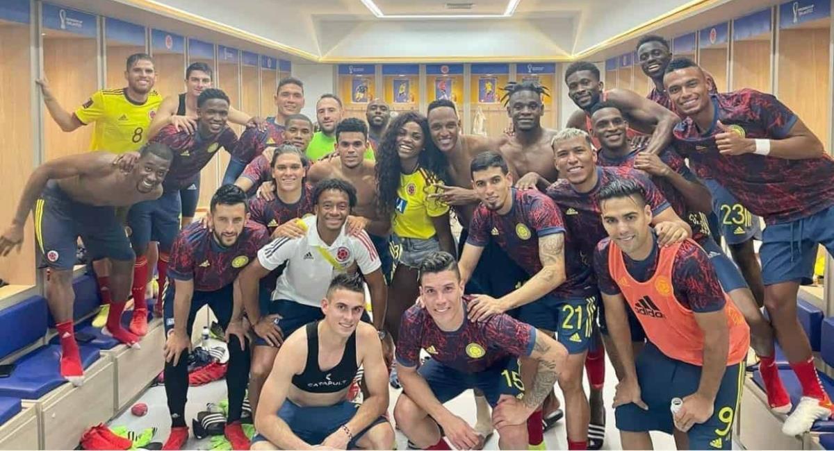 Caterine Ibargüen con la Selección Colombia. Foto: Instagram triplecibarguen