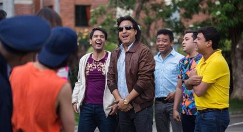 Dura escena en un ataúd del actor que interpreta a 'Diomedes Díaz' en bionovela de Caracol